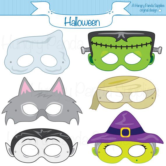 Halloween Masks, printable halloween costume, halloween printable, monster masks