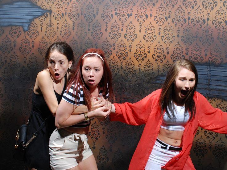 reacciones en una casa de terror