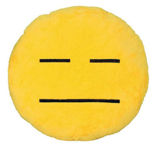 cool Expressionless Face Emoji Pillow