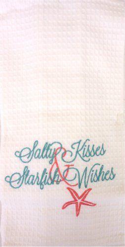 Salty Kisses & Starfish Wishes – Bar or Dishtowel - Beachfront Decor