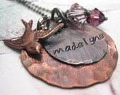 Love this hand stamped metal jewelry. Customizable and pieces can be added later a la carte.