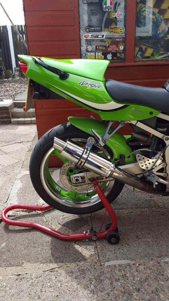 Kawasaki ZX6R G J A1P 98-02 ZX636  Polished Stainless GP PRO RACE MTC Exhaust #MaxTorqueCans