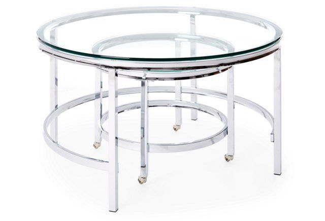 Paly Nesting Tables, Set of 2