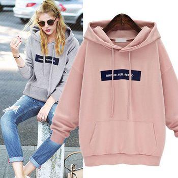 Letters Casual Pink Womens Hoodies Jacket Sweatshirt Harajuku 3d Pullover Sport Hoodie Tops Kpop Clothes Sudaderas Mujer