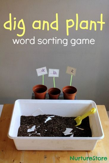 fun garden theme word sorting game plus a bonus colour sorting idea