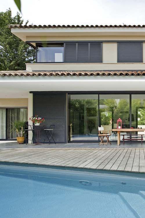 les 74 meilleures images du tableau baies vitr es. Black Bedroom Furniture Sets. Home Design Ideas