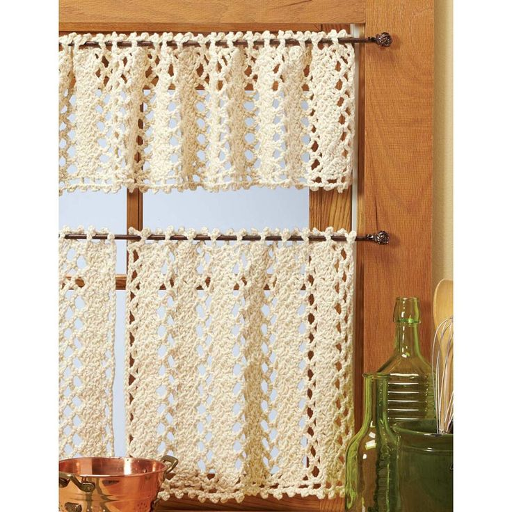 Crochet Kitchen Curtains: 10 Best Knitting - Curtains Images On Pinterest