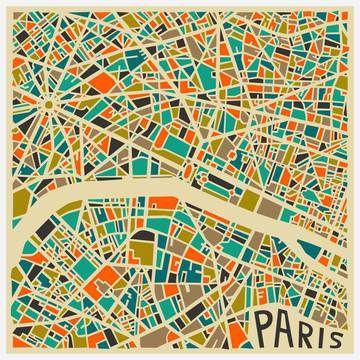 Jazzberry Blue: Paris Canvas Wrap