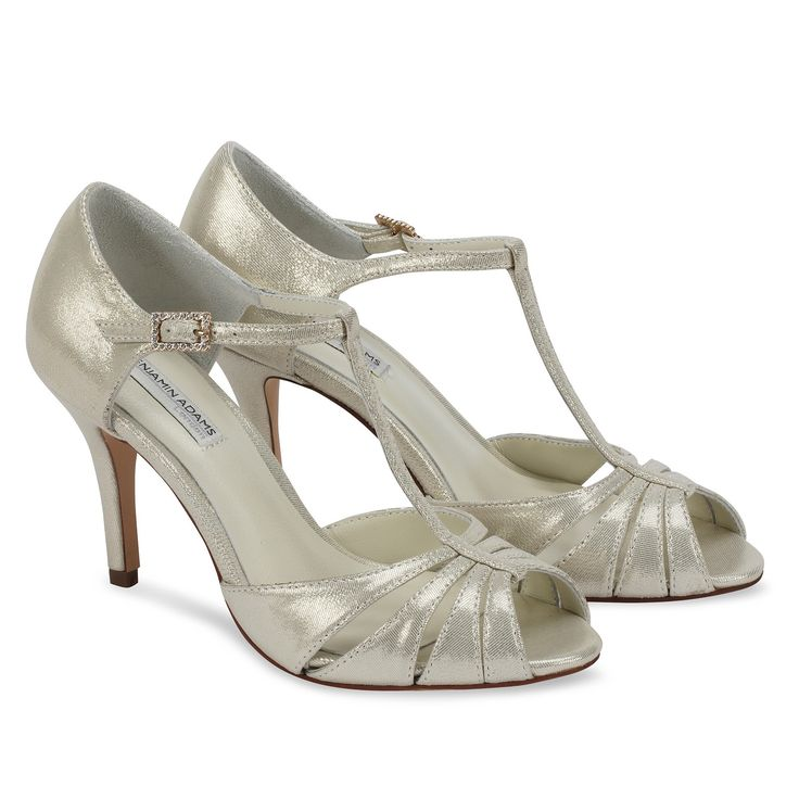 Shimmering soft leather 'Blake' t-bar sandal. The soft hues of the leather make this style very versatile with any outfit. Made with the finest leather linings for extra comfort.