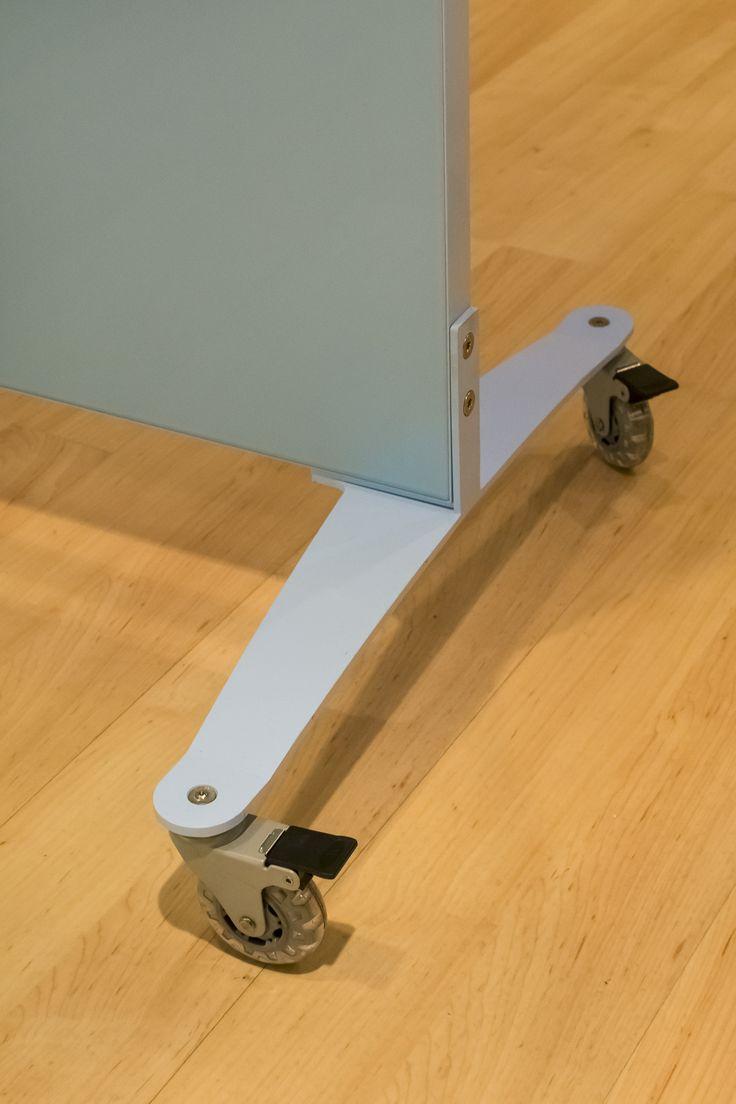 Egan GlassWrite Boxcore Mobile Caster Base in Custom Color