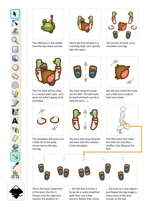 Inkscape Character Design Tutorial : Best images about d top view references on pinterest