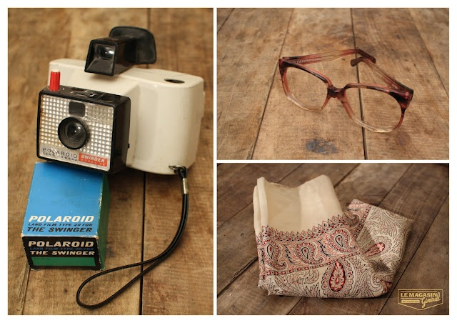Polaroid x Givency vintage glasses x paisley scarf  (c)http://www.le-magasin-general.com/