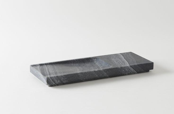 ~ marble flat design ~ Michael Verheyden Grey Marble Rectangular Tray via @blendmaterial