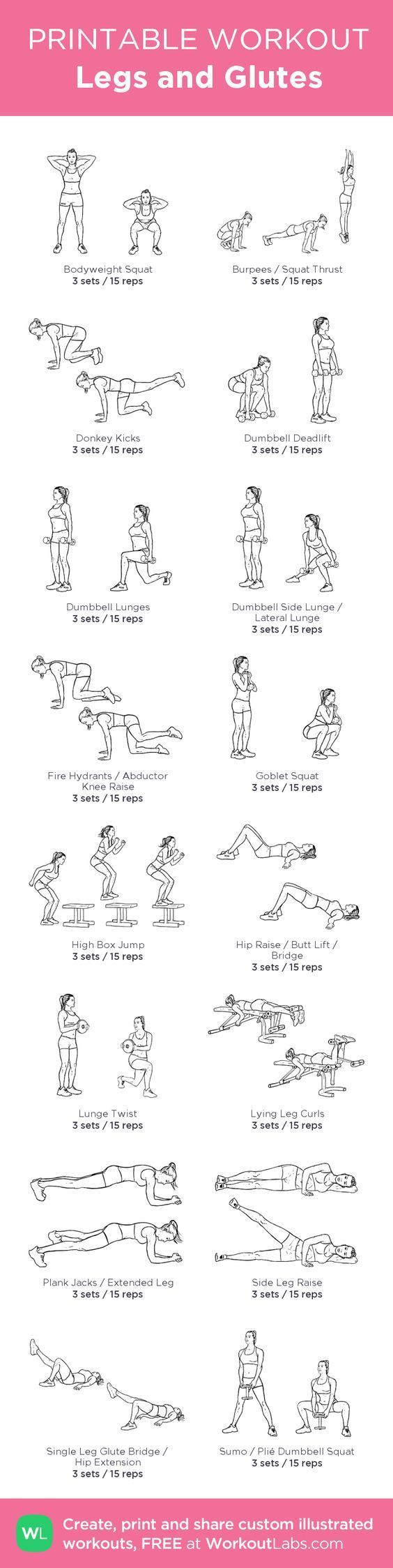 MUSCLE GAINS: Legs and Glutes –my custom workout created at Wor...