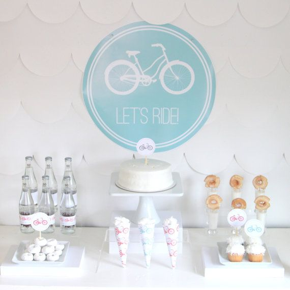 PRINTABLE bicycle party decor labels and signs by kojodesigns