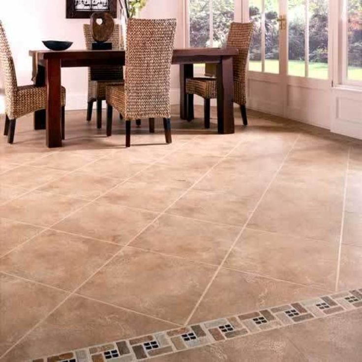 Kitchen Floor Porcelain Tile Ideas Part - 48: Porcelain Kitchen Floor Tile Patterns Minus The Small Mosaic Tile Design