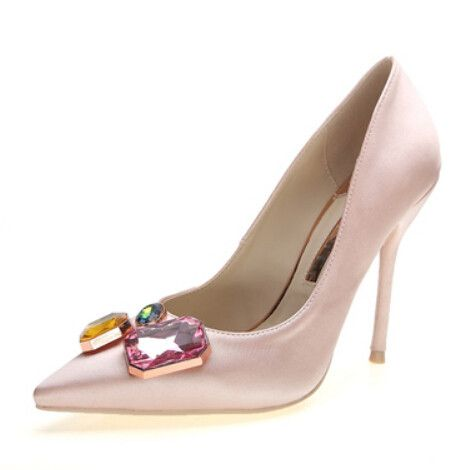 Moda Verde Sapatos de Mulher De Salto Alto Sapatos de Casamento Strass Bombas Sexy Sapato de Bico Fino Saltos Altos Das Senhoras Sapatos de Festa Saltos FS 0084 em Bombas das mulheres de Sapatos no AliExpress.com | Alibaba Group