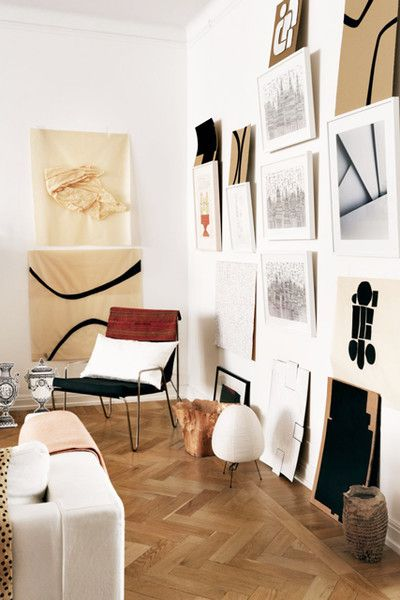 Gallery Wall, Continued - Inspiration For Mastering The Artwork-On-Floor Look - Photos