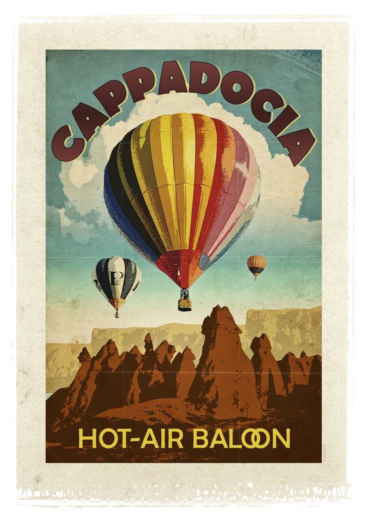 Take a ride in an air balloon in Cappadocia- home of fairy chimneys.