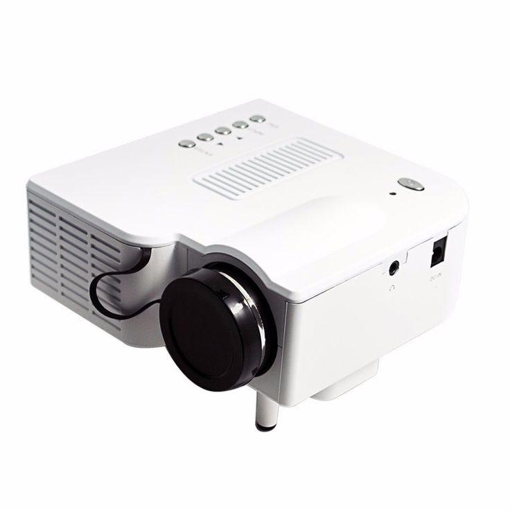 Домашний кинотеатр мультимедиа из светодиодов жк-проектор HD 1080 P av-vga USB микро-hdmi белый