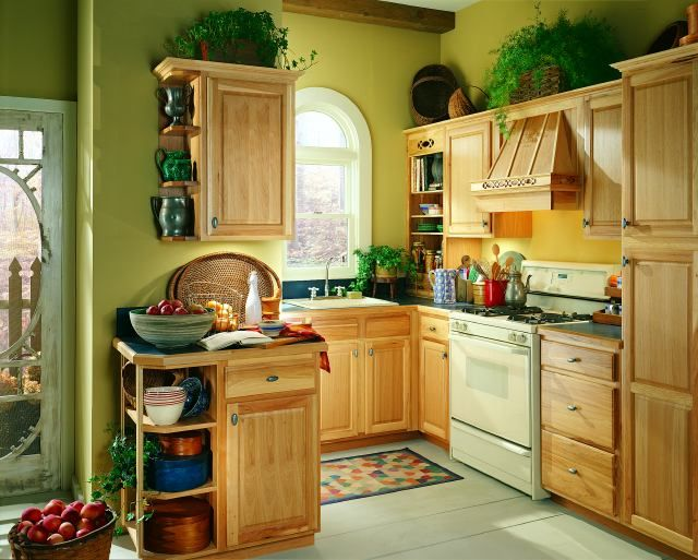 94 best Hickory Cabinets images on Pinterest | Hickory kitchen ...