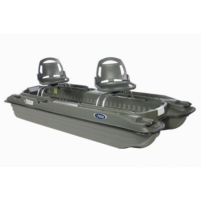 Bass Raider 10E Review | Pelican Bass Raider 10E Pontoon Boat in Khaki