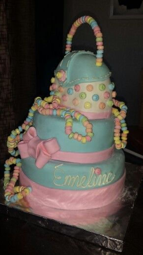 Candy necklaces cake!