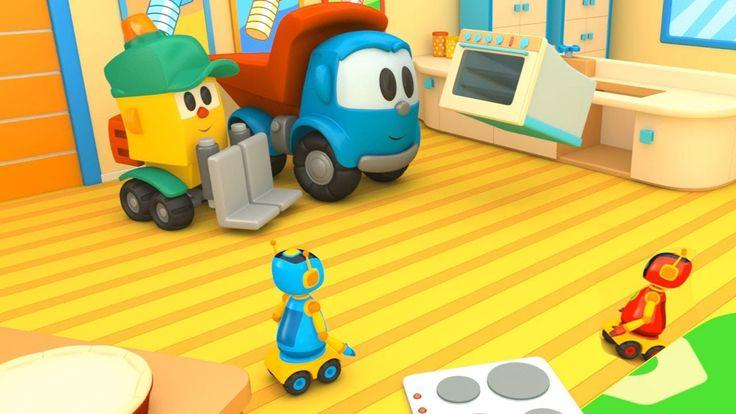 Leo il camion curioso ed il forno per le torte - Cartoni animati per bam...