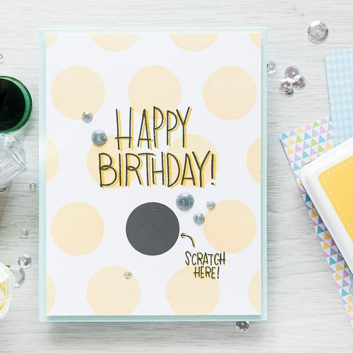 Simon Says Stamp | September Card Kit - Scratch Off Cards - Happy Birthday by Yana Smakula