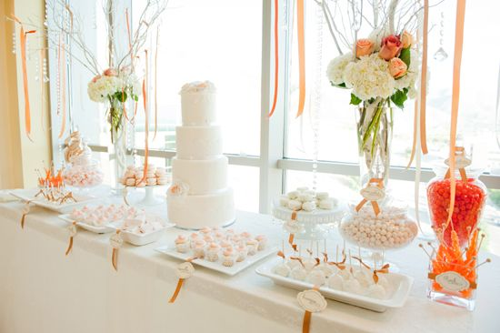 Dessert Table, love the colors and choices and the way everything is displayed.