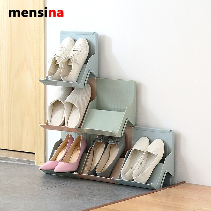 mensina Family Stackable Shoes Rack Stand Storage Organizer For Shoes DIY Shoe Cabinet for Home Decor #Affiliate