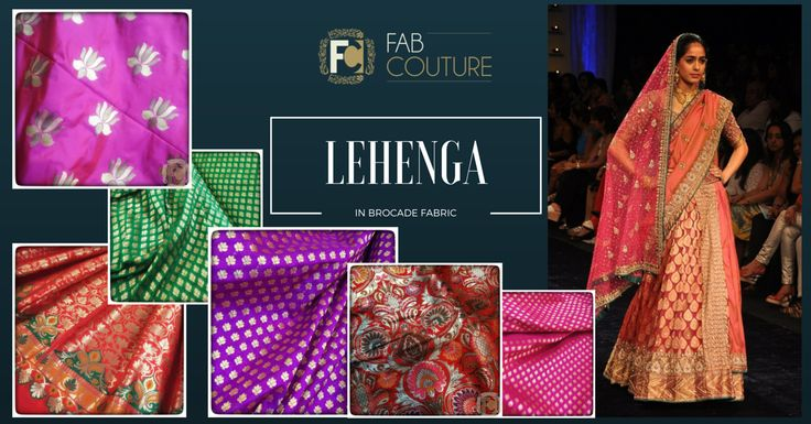 Lehenga in Brocade http://blog.fabcouture.in/2016/01/18/brocade-in-your-wardrobe/