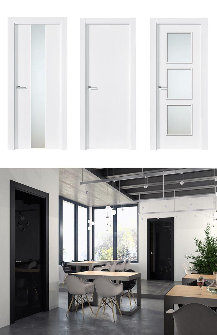 Puerta de Interior Blanca | Modelo Murillo de la Serie Lacada de Puertas Castalla. Puerta Lacada blanca