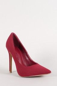 Shoe Republic Nubuck Pointy Toe Stiletto Pump in fuchsia (lighter pink than shown here)| UrbanOG