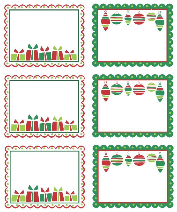Best Free Templates » free christmas return address label templates