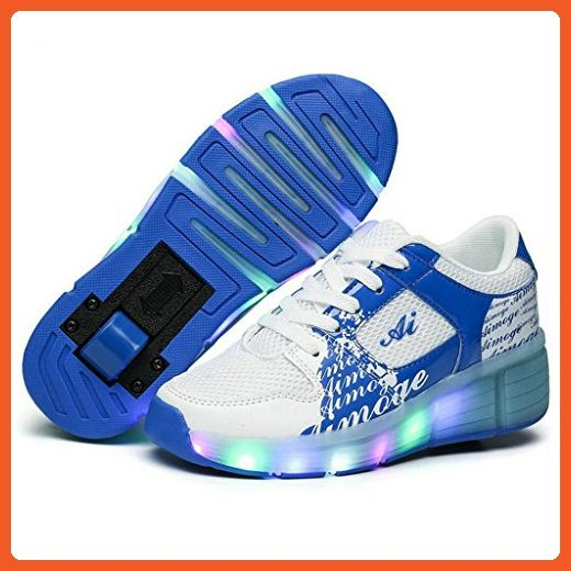 Boys Girl's Adult LED Light Roller Skate Shoes with One Wheel Flashing Sneakers - Sneakers for women (*Amazon Partner-Link)