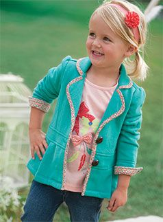 How cute would this jacket be made from fleece or felted wool to make it cozy warm!