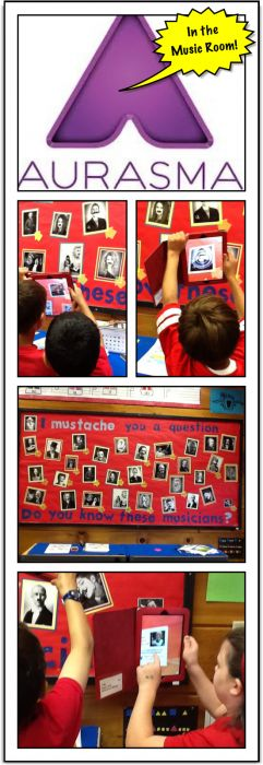 Examples of using Aurasma (Augmented Reality) in the elementary music classroom to explore composers and listen to gifted young performers. Aurasma is free for iPad and web site. Video examples included. QR codes... so last year! :)