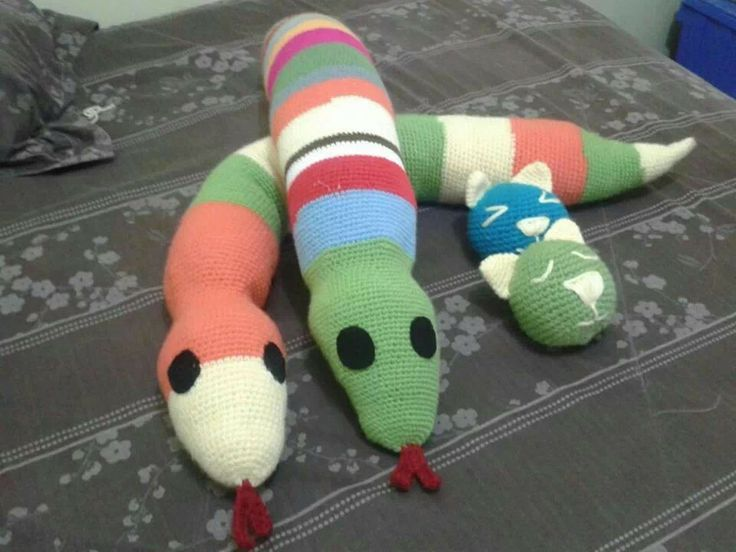 serpientes coloridas 1 mt. de largo