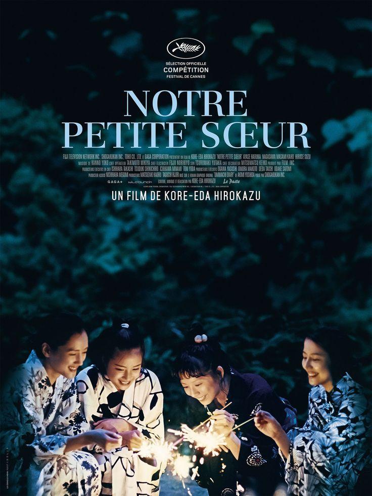 Notre petite sœur est un film de Hirokazu Kore-Eda. Synopsis : Trois sœurs, Sachi, Yoshino et Chika, vivent ensemble à Kamakura. Par devoir, elles se rendent à l'enterrement de leur père, qui les avait abandonnées une quinzaine d'années auparavant. Elles font alors la connaissance de leur demi-sœur, Suzu, âgée de 14 ans. D'un commun accord, les jeunes femmes décident d'accueillir l'orpheline dans la grande maison familiale… http://www.allocine.fr/film/fichefilm_gen_cfilm=236040.html