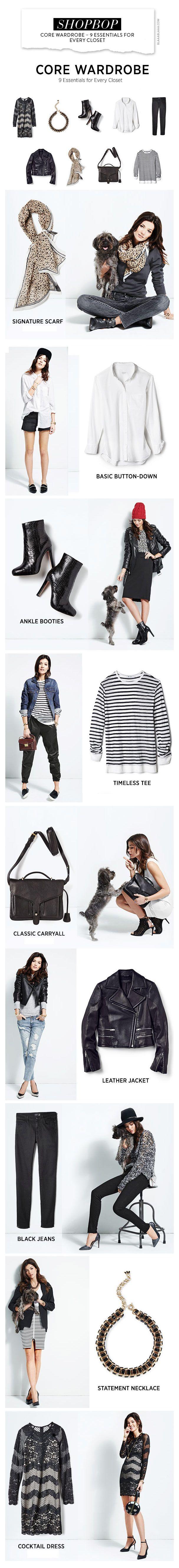 Shopbop Core Wardrobe – 9 Essentials for Every Closet