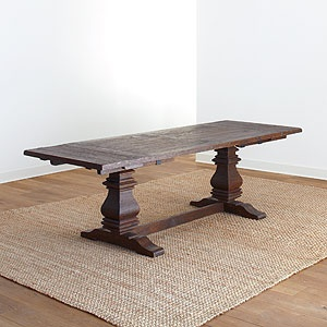 This is the table I used for my Rustic dining room board over at Apt Guides -Your Picks Your Place sweepstakes.  I have gotten a ton of emails asking about it.  $699 from World Market.com Arcadia Extension Table