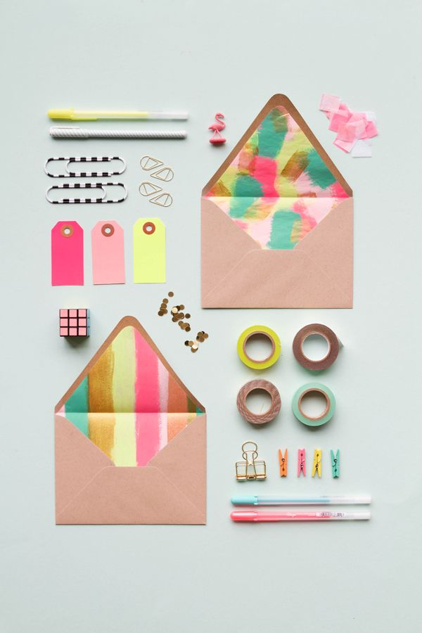 How To // Create Fancy Envelope Liners by @jordanferney   Paper Crafts