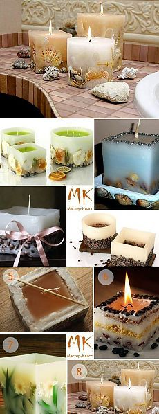Оригинальные свечи. Делаем красоту своими руками.МК