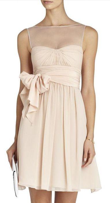 Blush bow dress