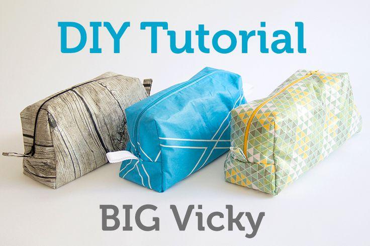 Das Schnittmuster für die Tasche Vicky könnt ihr einfach vergrößern und Stoff mit Lamifix wasserabweisend beschichten