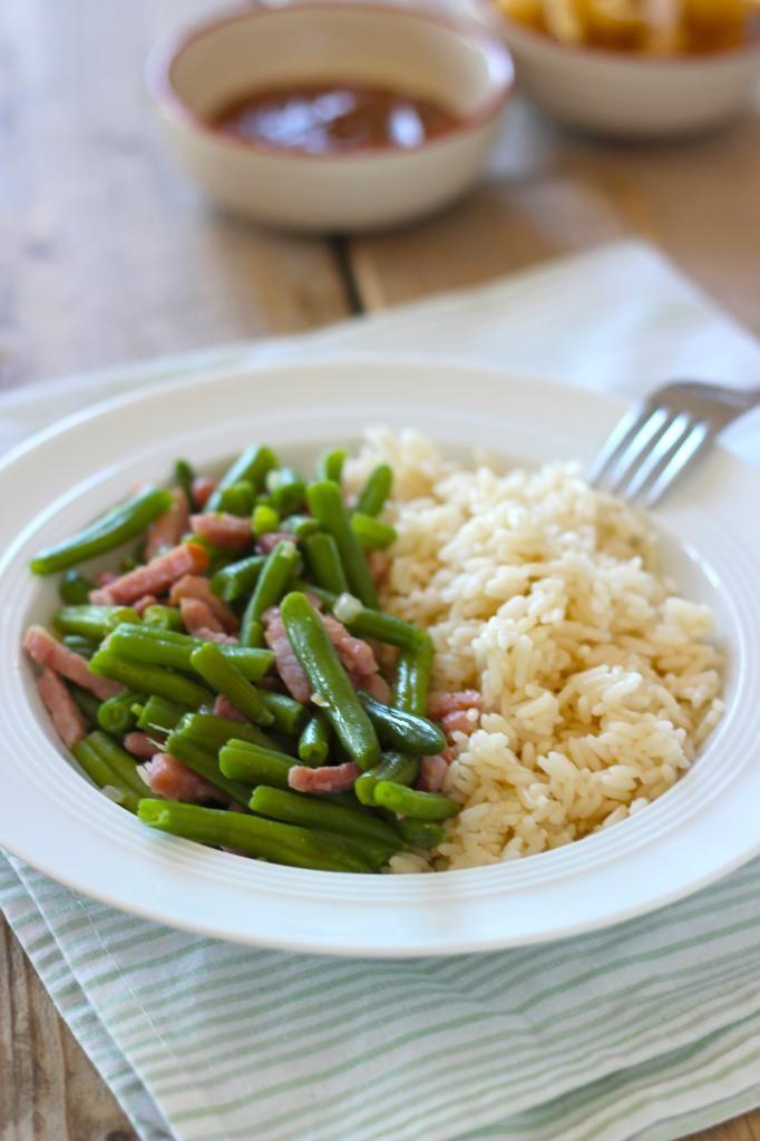 Lekker en Snel: rijstgerecht met sperziebonen en spekreepjes - Lekker en Simpel