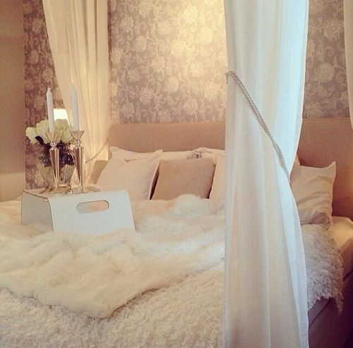 I love the draping around the bed
