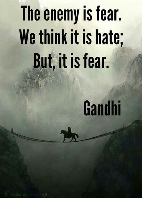 Fear does crazy things to people