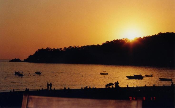 Olu Deniz beach at sunset